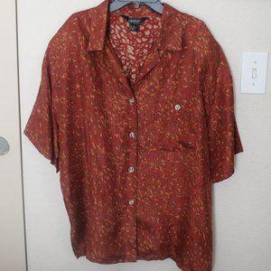 Vintage 80s Options Elrose Women's Brown Shirt 100